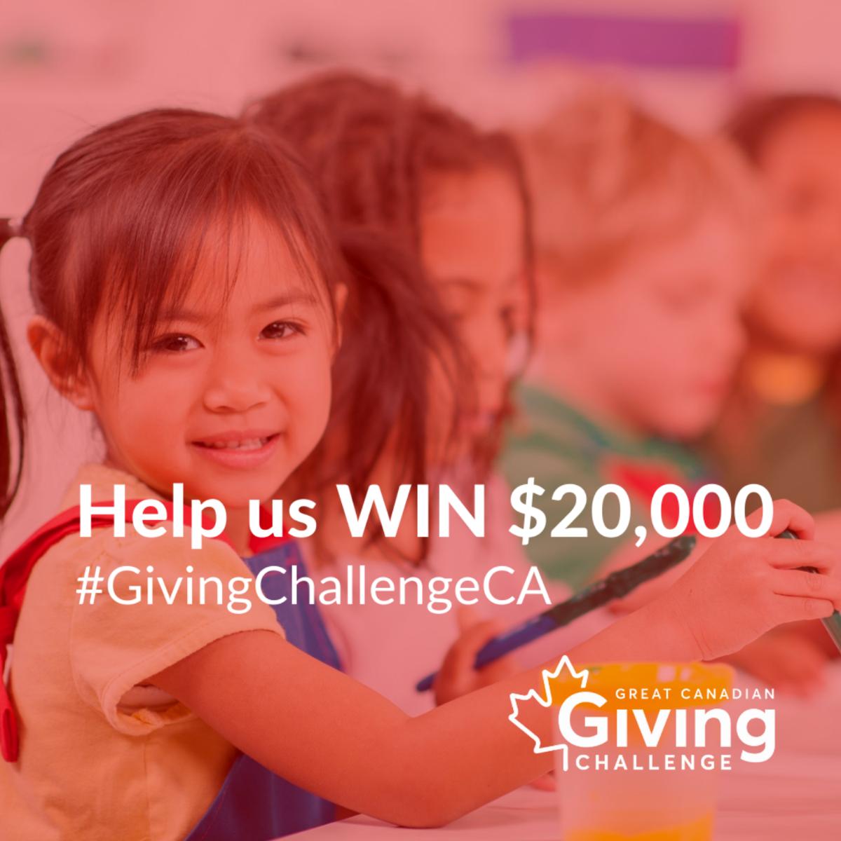 Help us win $20,000. #GivingChallengeCA