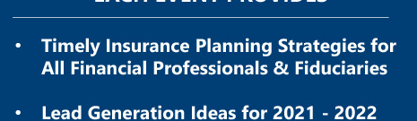 Timely Insurance Planning Strategies for All Financial Professionals & Fiduciaries
