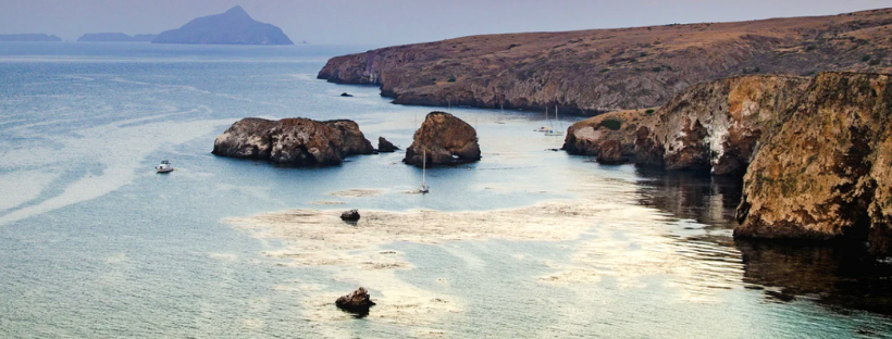 View of Santa Cruz Island in Channel Islands National Park
