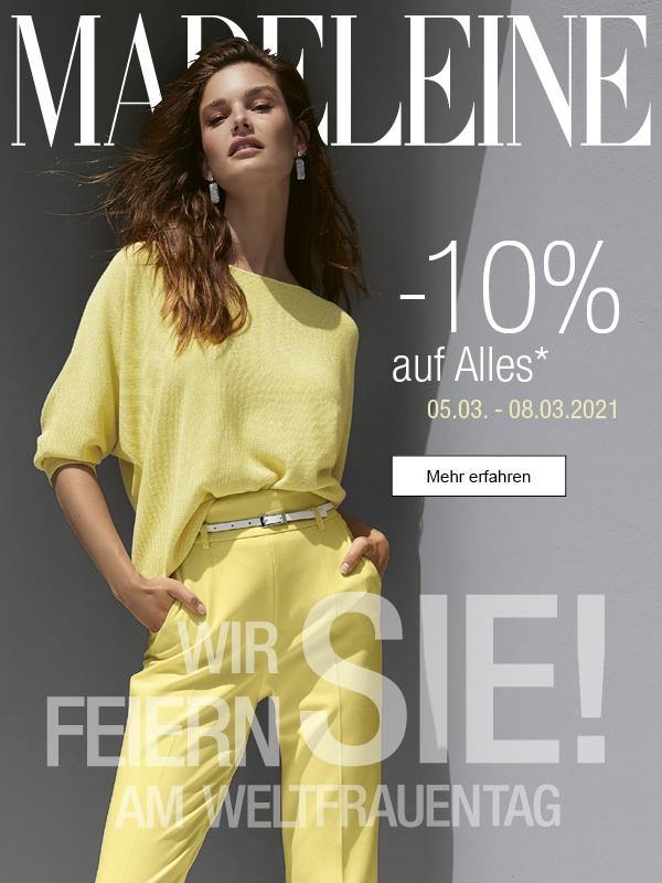 MADELEINE: -10% auf ALLES