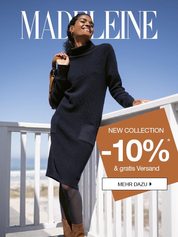 MADELEINE: 10% und gratis Versand auf die neue Kollektion!