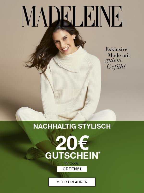 20€ Gutschein & nachhaltig Stylish mit MADELEINE Mode