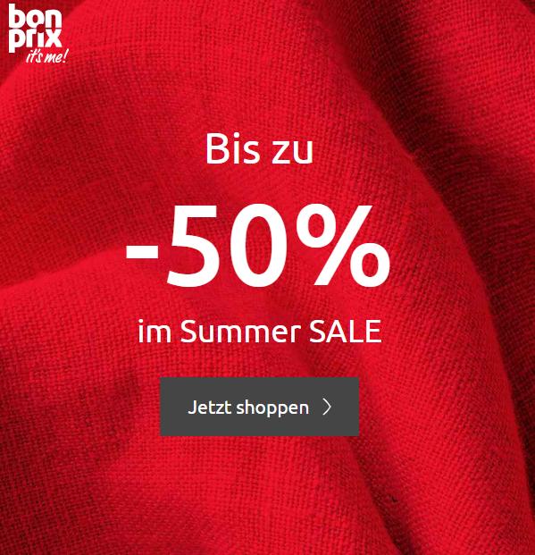 bonprix: Bis -50% im Summer SALE