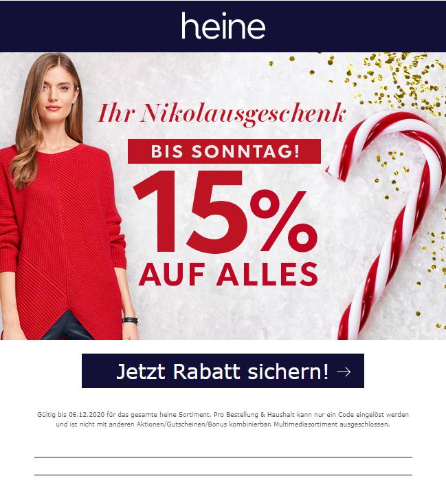 HEINE: -15%* auf ALLES