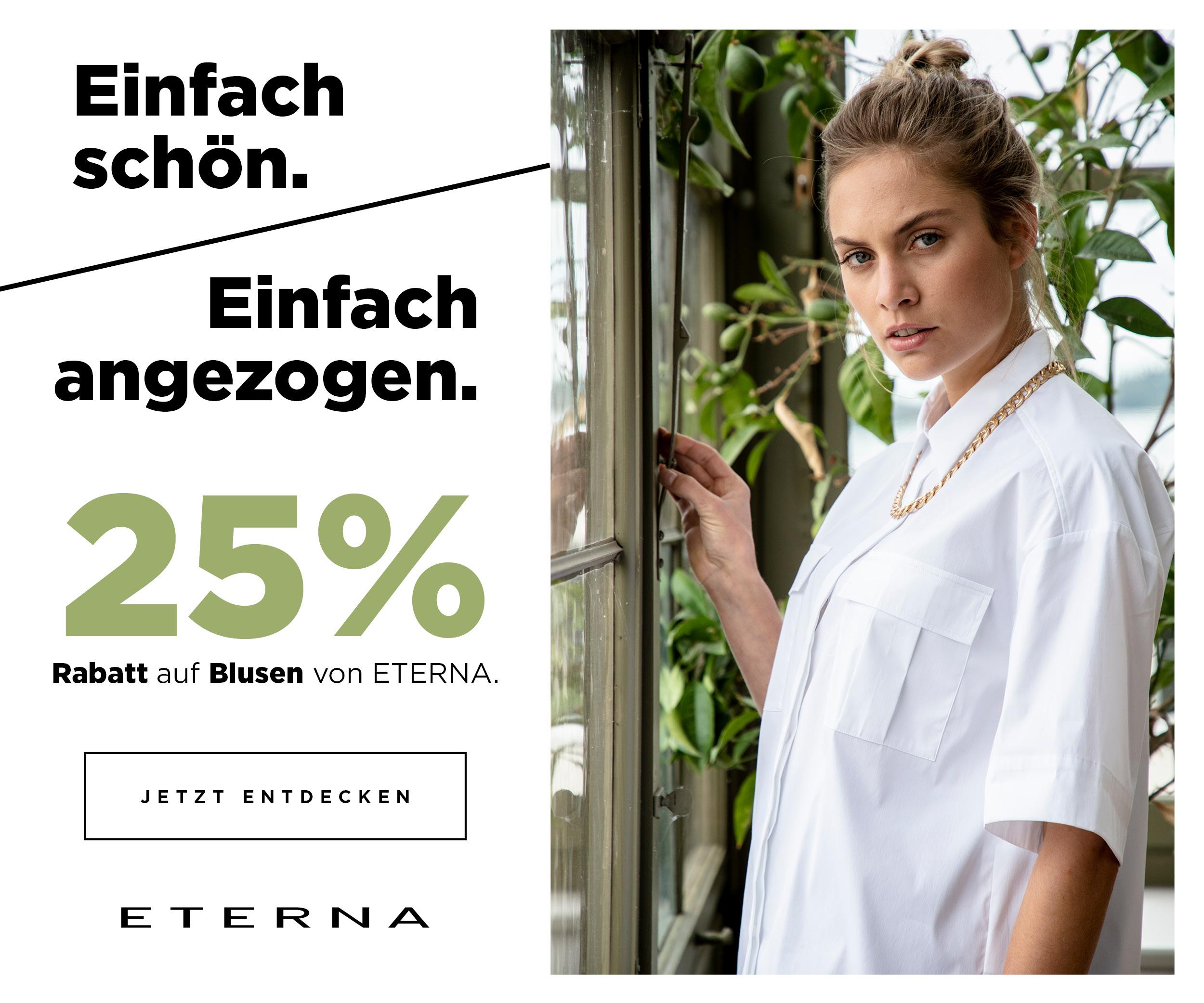 ETERNA: 25% auf Blusen