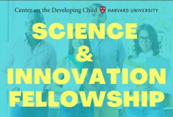 Text in block letters reads Science & Innovation Fellowship