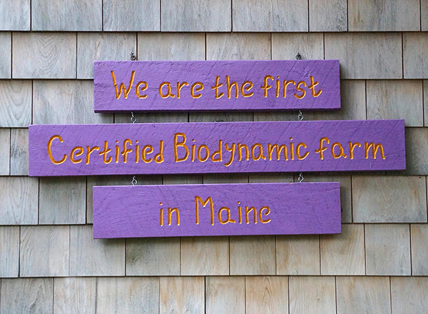 We are the first certified biodynamic farm in Maine