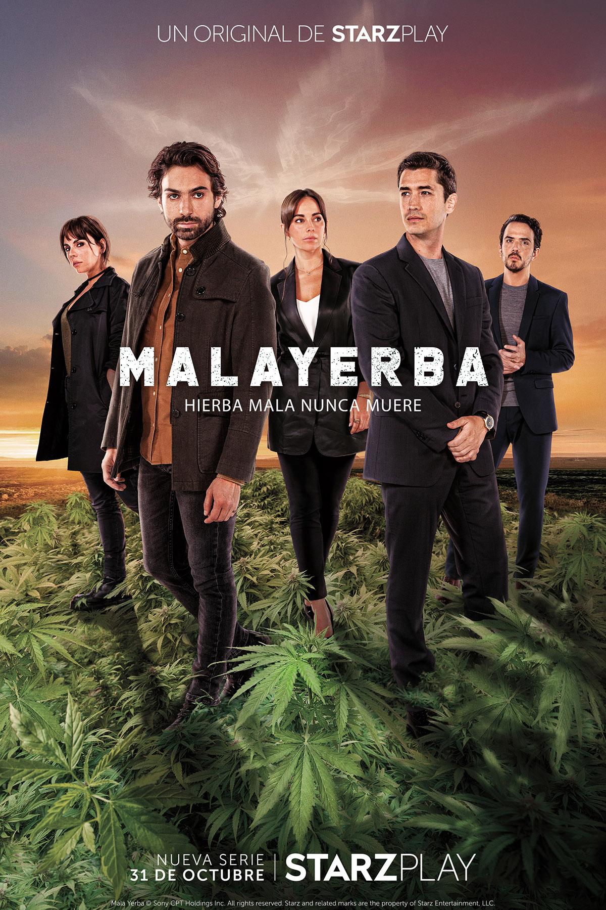 """Starzplay pisa fuerte y anuncia la fecha de lanzamiento y póster de su primera serie original en español """"Malayerba"""""""