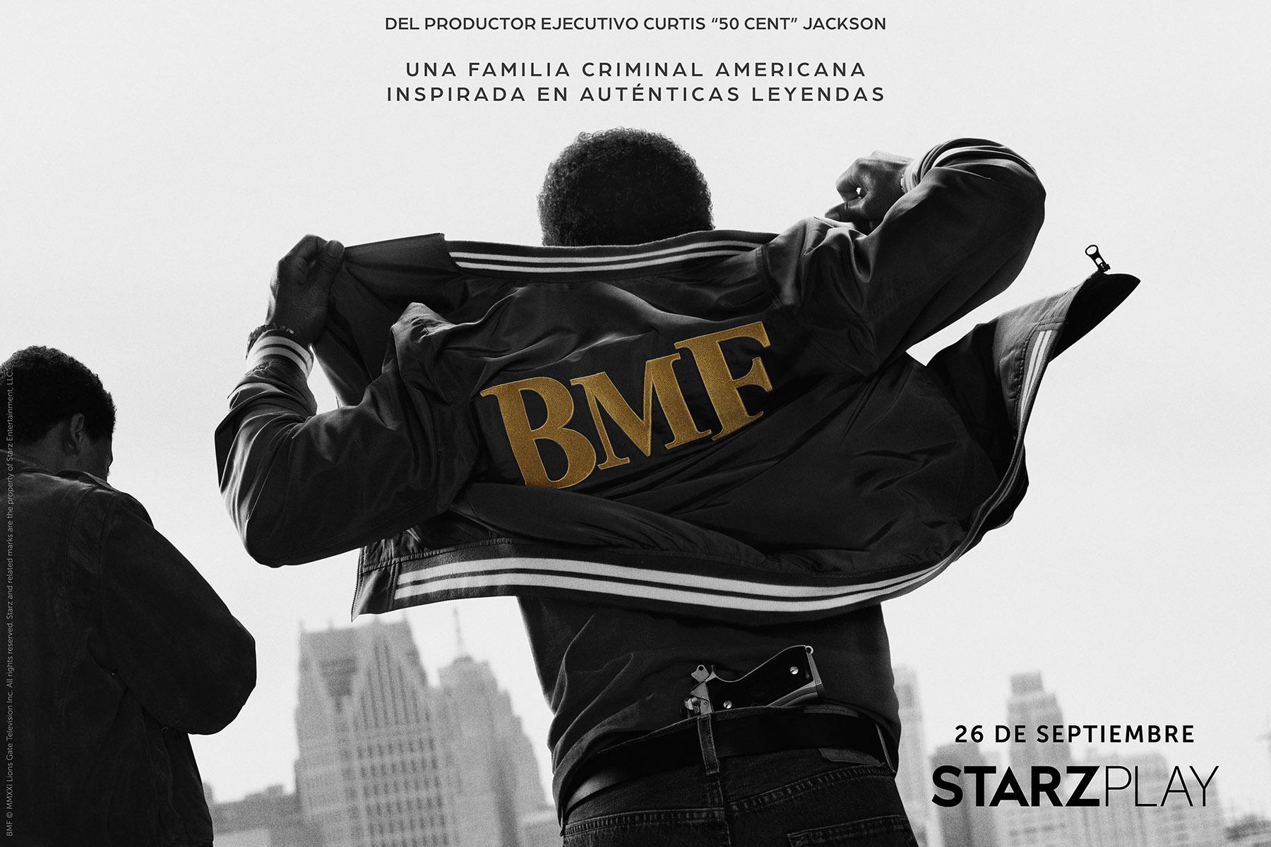 """Starzplay anuncia el crimen dramático en los años 80's """"BMF"""", la reciente serie del productor ejecutivo curtis """"50"""" Cent Jackson, que se estrenará el domingo 26 de septiembre"""