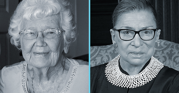 Norma Ham and Ruth Ginsburg