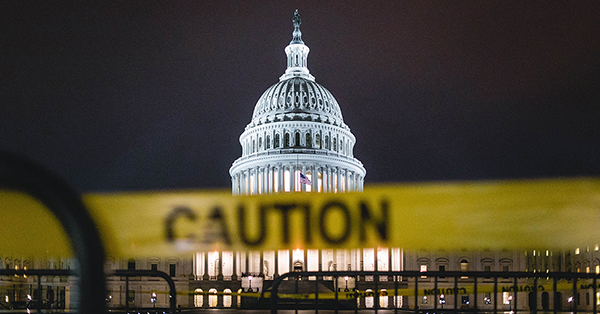 Caution Tape and the US Capitol