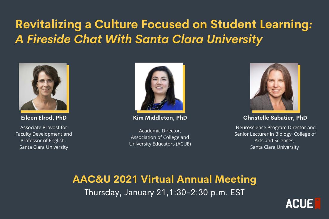 A fireside chat with Santa Clara University, January 21, 2021