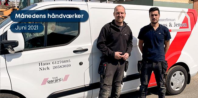 Månedens håndværker: Tømrerfirmaet Roos & Jensen ApS
