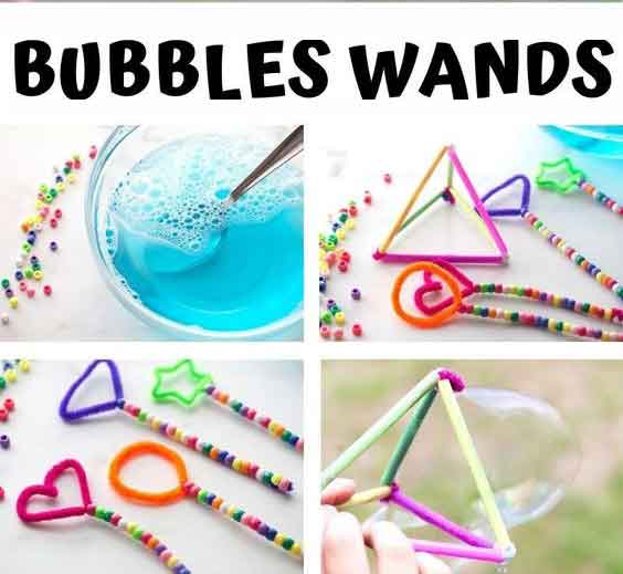 How to Make Bubble wands - Activity