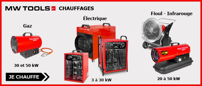 Chauffages d'atelier MW-Tools