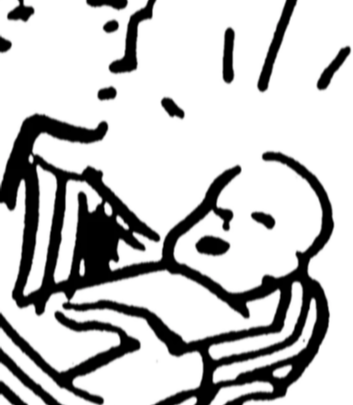 Illustration of woman cradling her baby