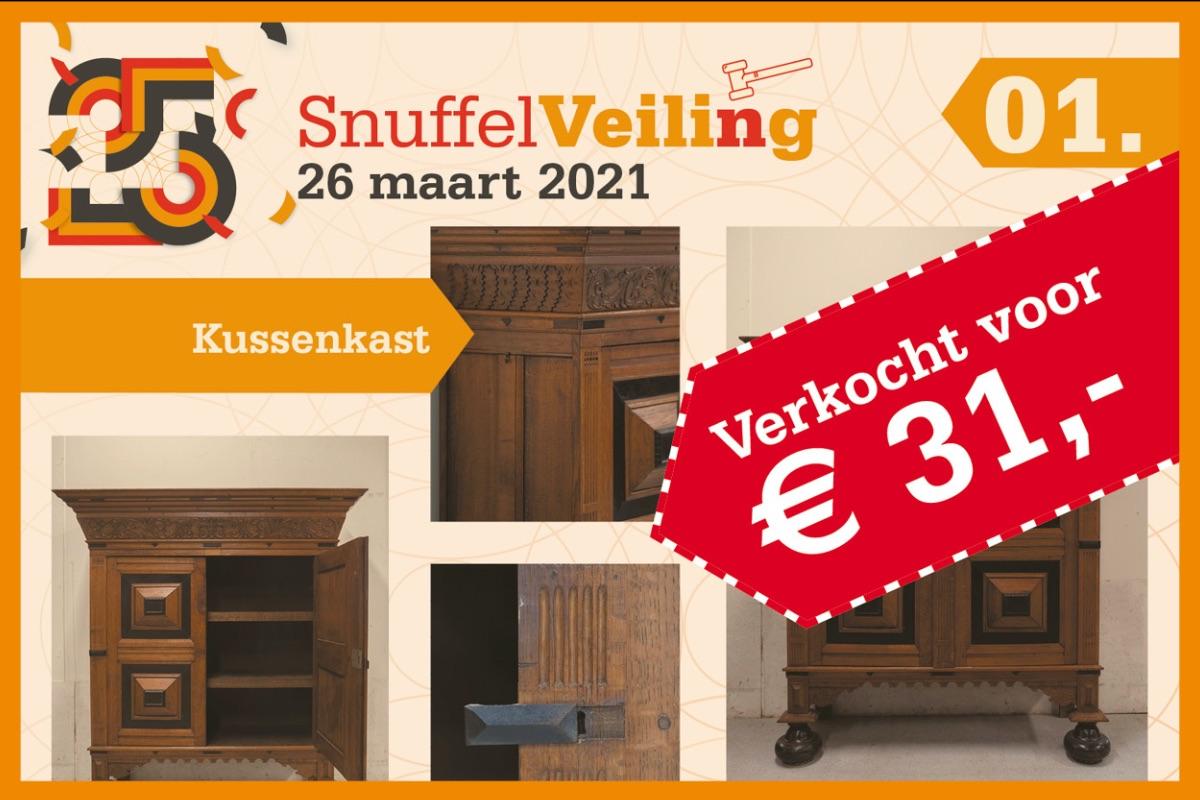 Kussenkast verkocht voor €31,-