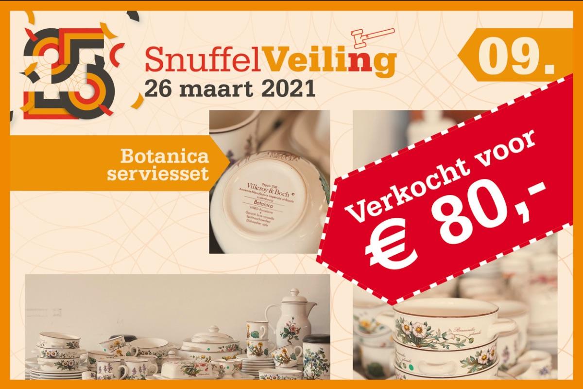 Botanica serviceset verkocht voor € 80,-