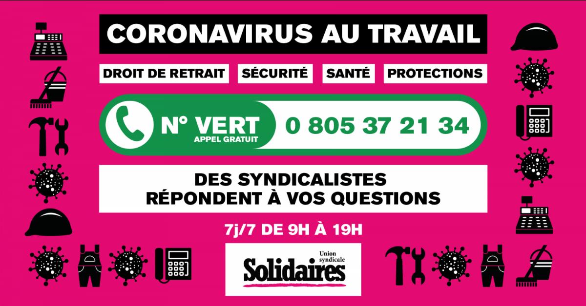 coronavirus au travail : des syndicalistes répondent à vos questions