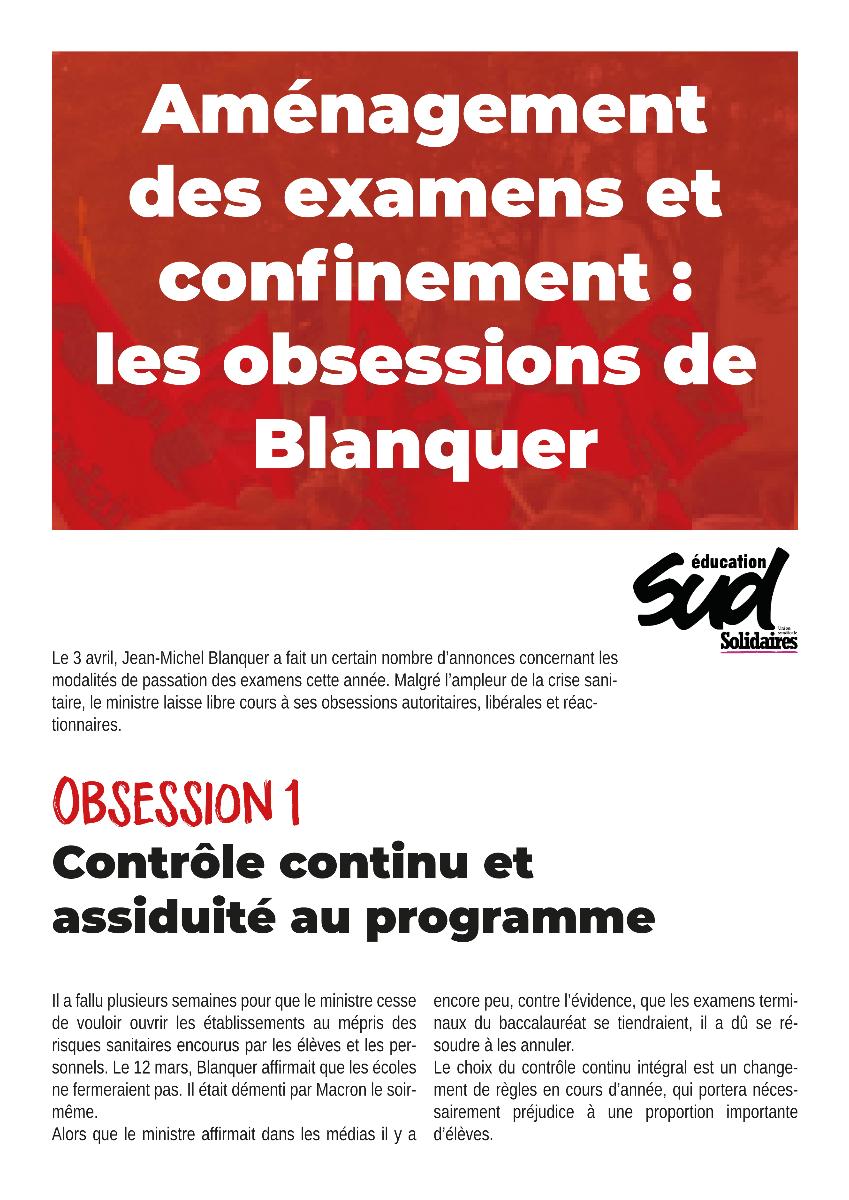 Aménagement des examens et confinement : les obsessions de Blanquer