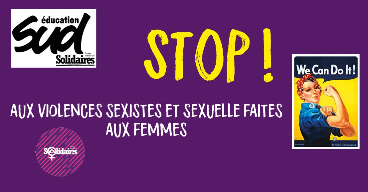 Stop aux violences sexistes et sexuelles faites aux femmes