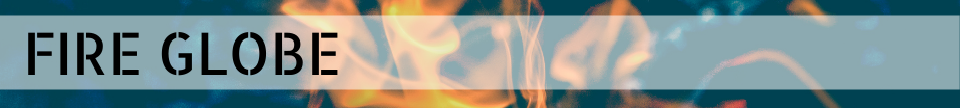 Fire Globe; decorative image of orange flames in background