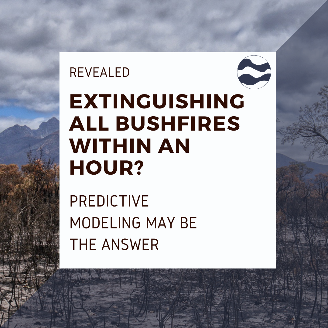 decorative image: extinguishing all bushfires within an hour? Predictive modeling may be the answer