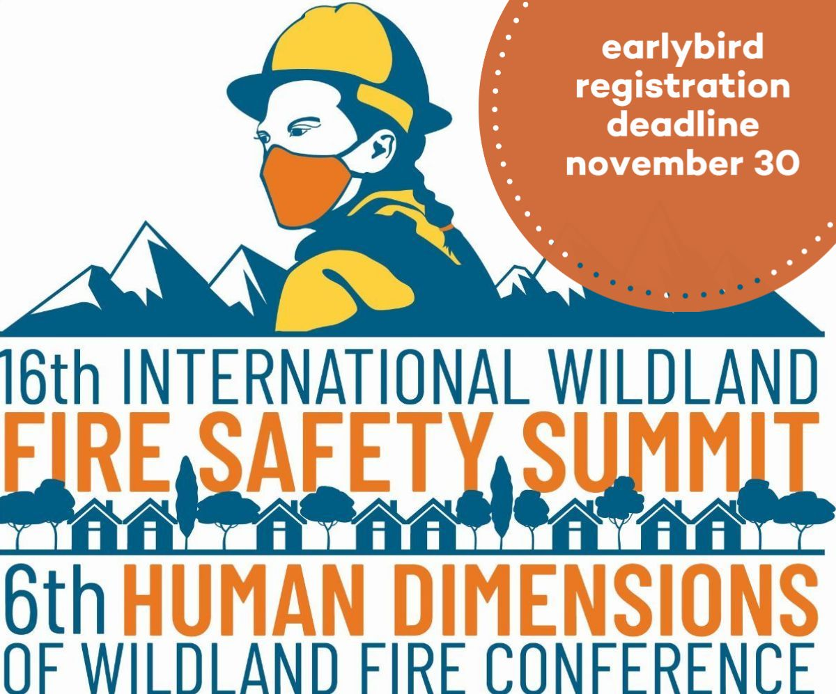 decorative picture of firefighter; 16th international wildland fire safety summit, 6th human dimensions of wildland fire conference