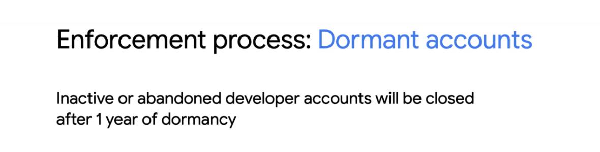 Image Google va automatiquement fermer les comptes développeurs inactifs du Google Play