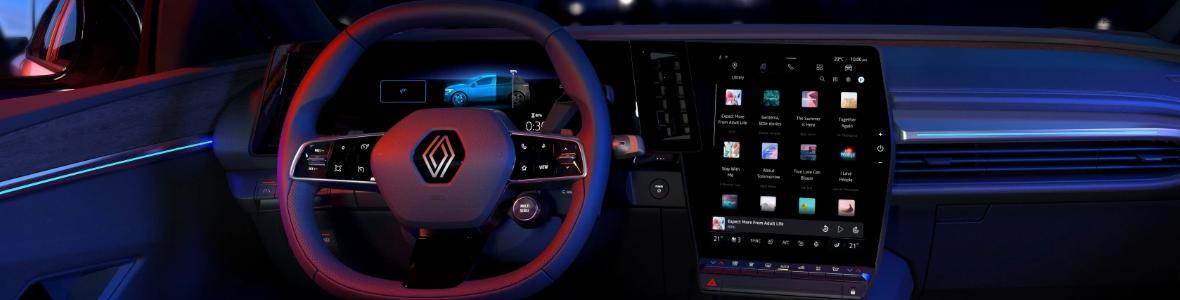 Image Renault a présenté sa première voiture avec Android Automotive et une puce ARM