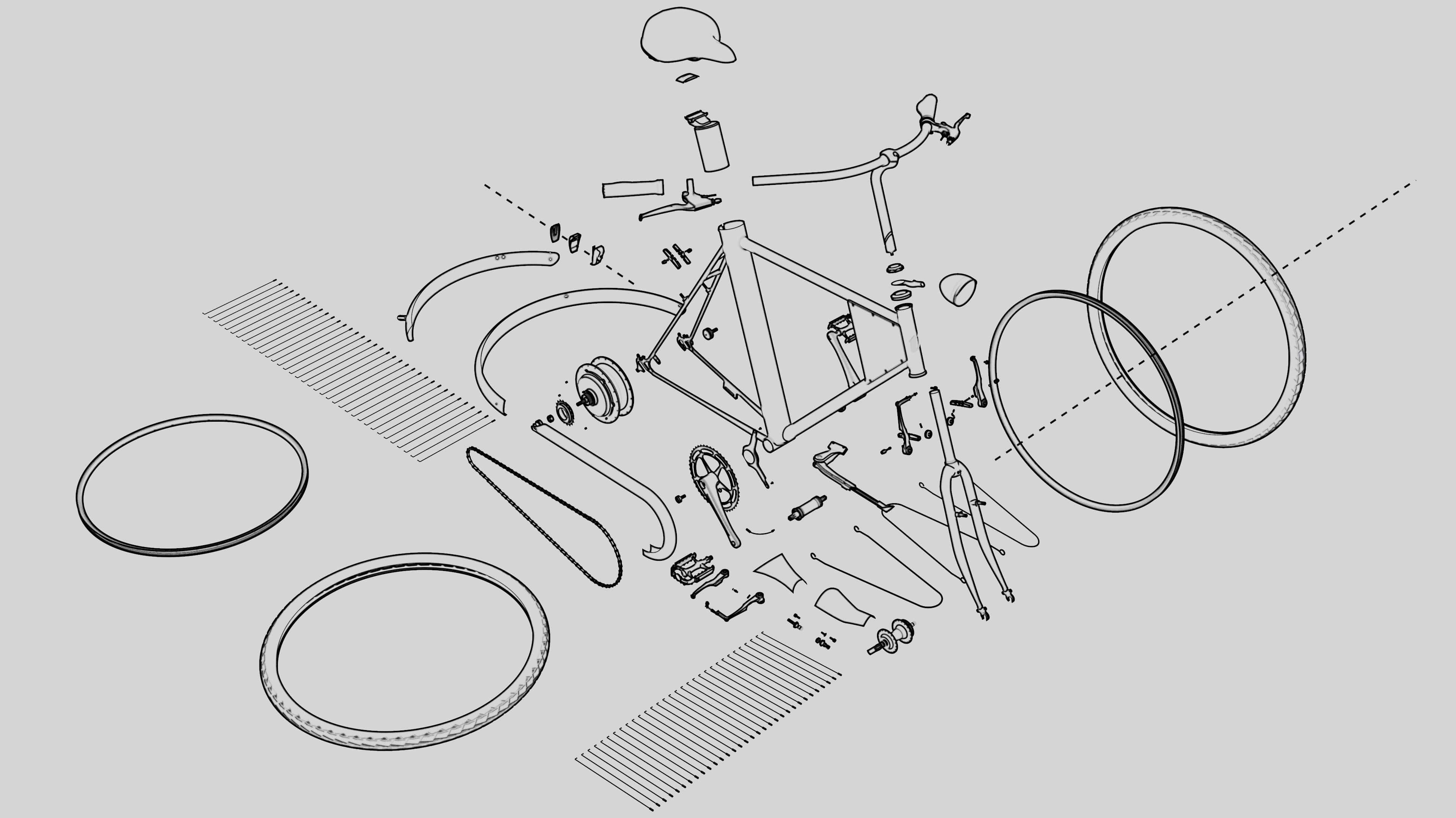 Especificações técnicas bike