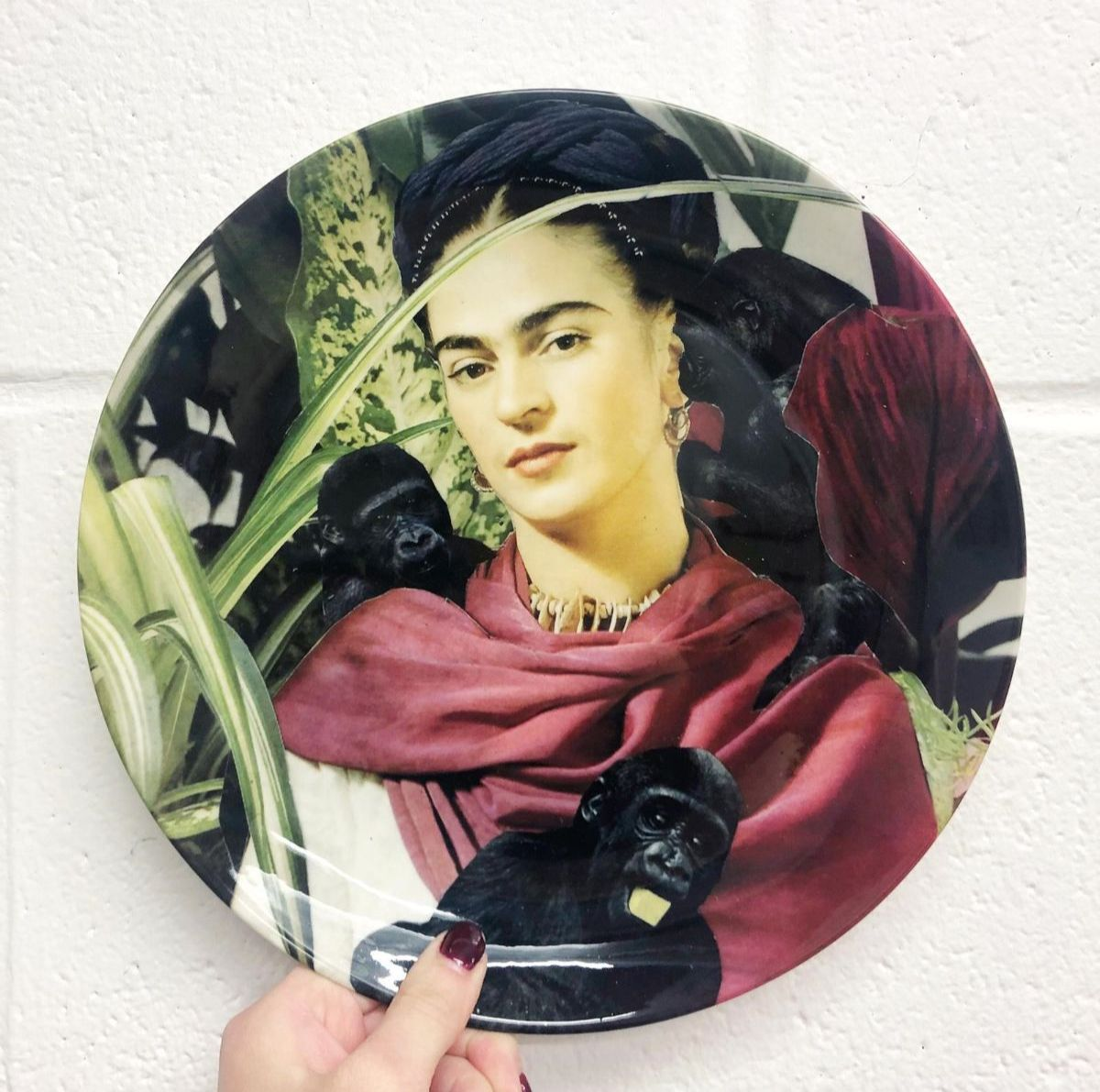 Frida Kahlo gifts - modern plate set