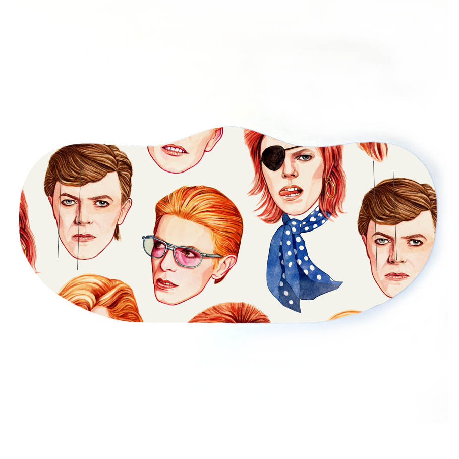 David Bowie fashion - creative face masks