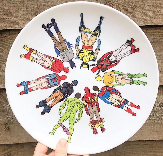 Superhero butts - plate sets uk