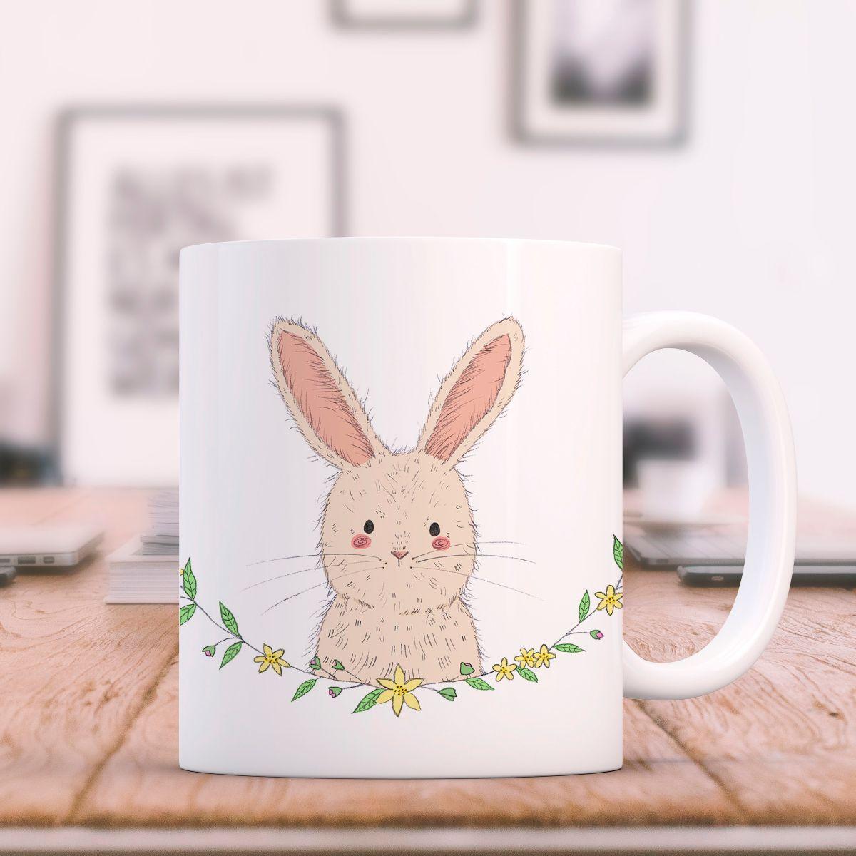 custom made Easter mugs with bunny