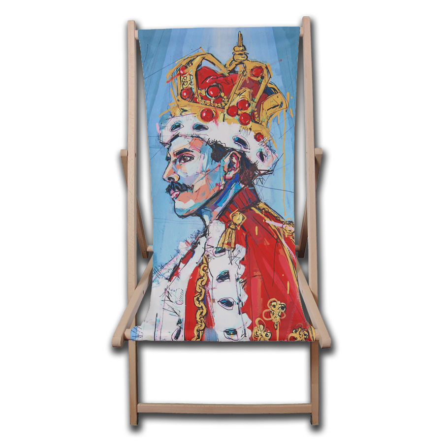 Freddie Mercury portrait - personalised deck chair