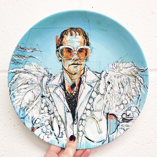 Elton John gifts - dinner plate sets for sale