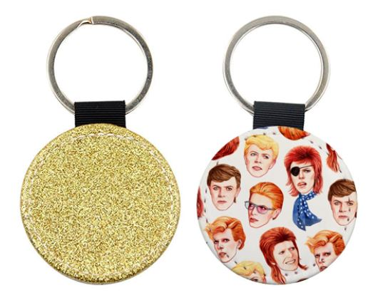 Personalised keyrings photo and text