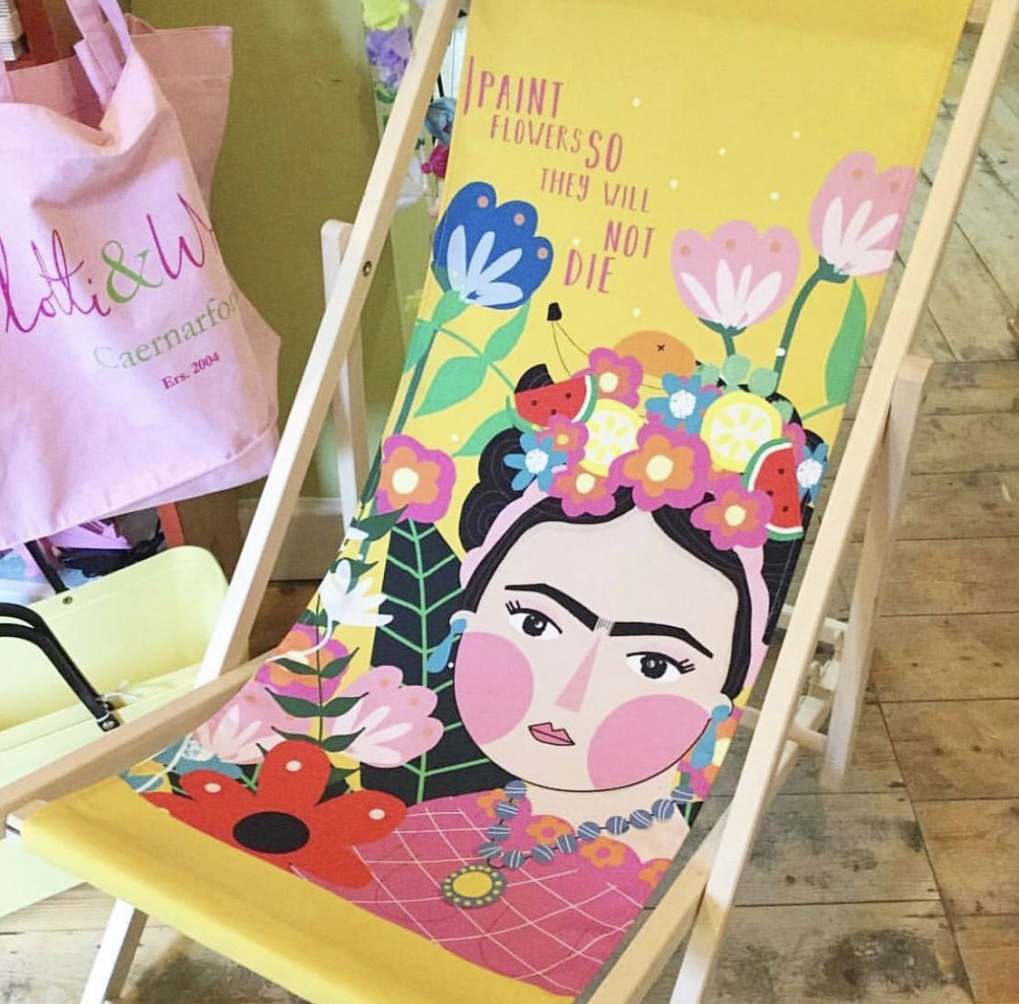 Frida Kahlo gifts - garden deck chairs