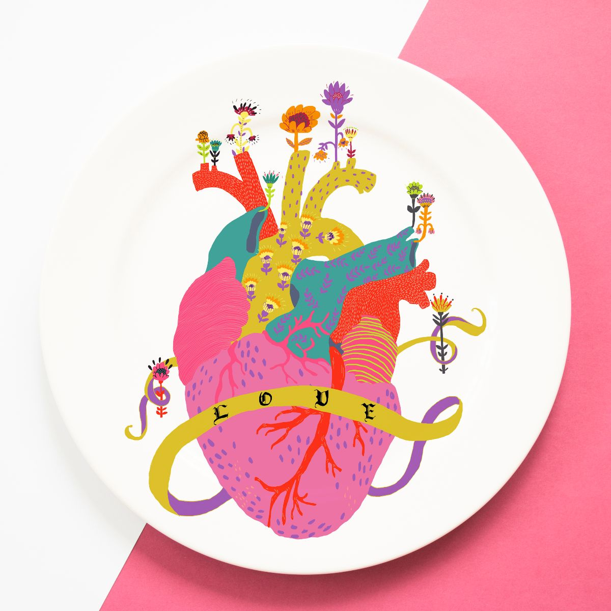 Cool personalised dinner plates