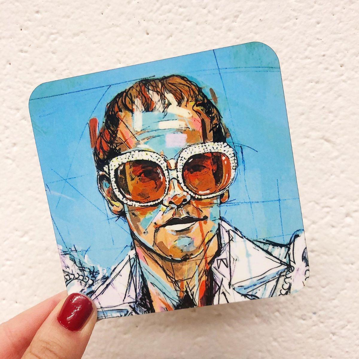 Elton John artwork - coaster