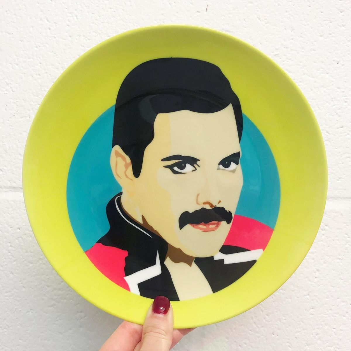 Freddie Mercury artwork - ceramics tableware