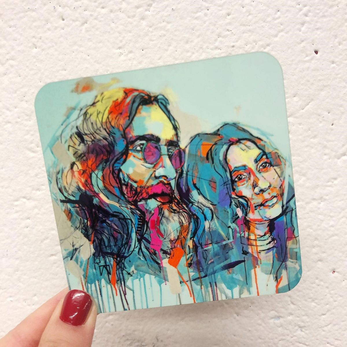 John Lennon artwork - design your own coaster