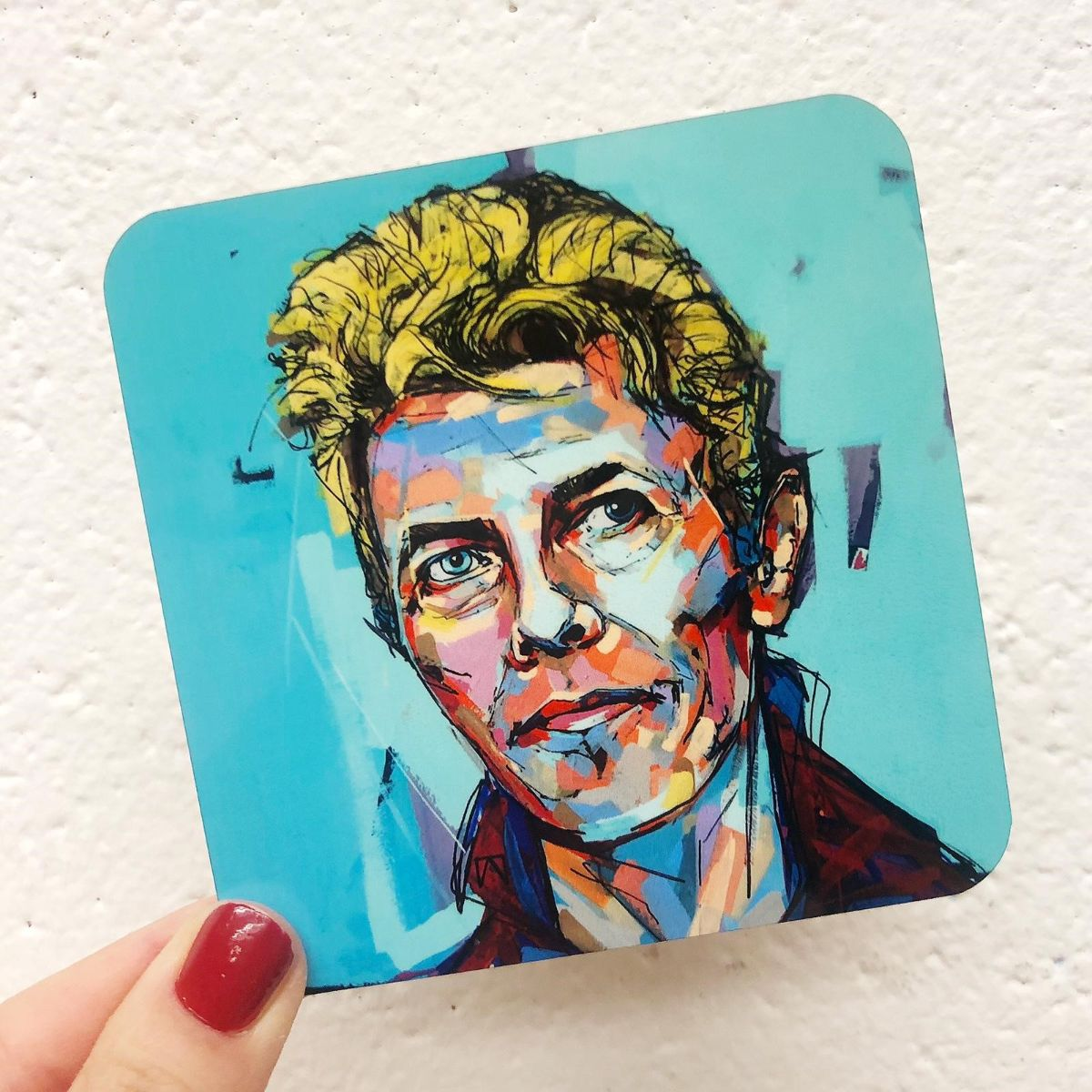 David Bowie artwork - Print photo on coasters in UK