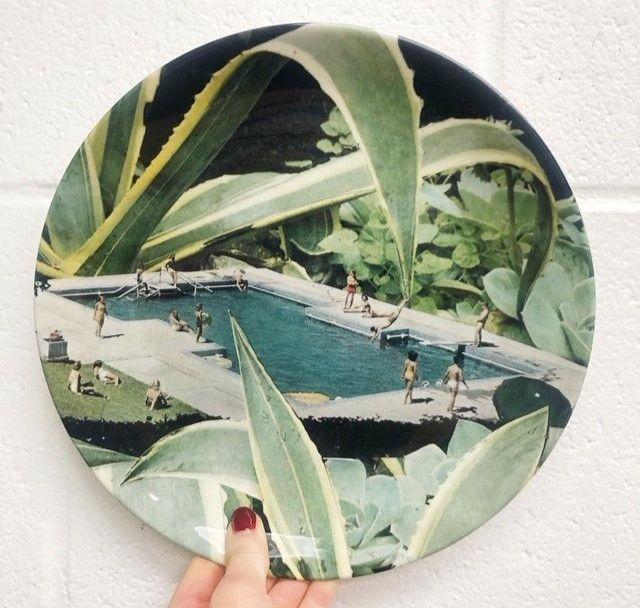 Designed dinner plate