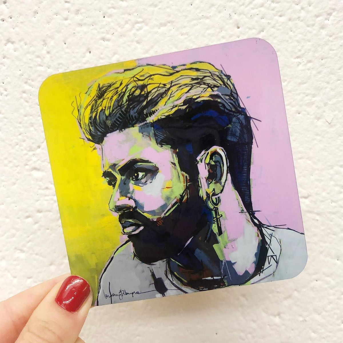 George Michael artwork - personalised photo coasters