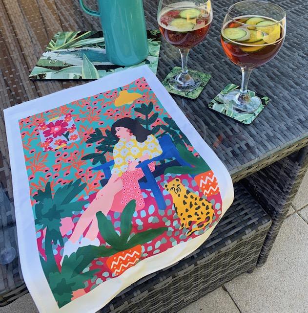 Tea towel printing