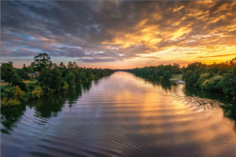 nepean river at sunset