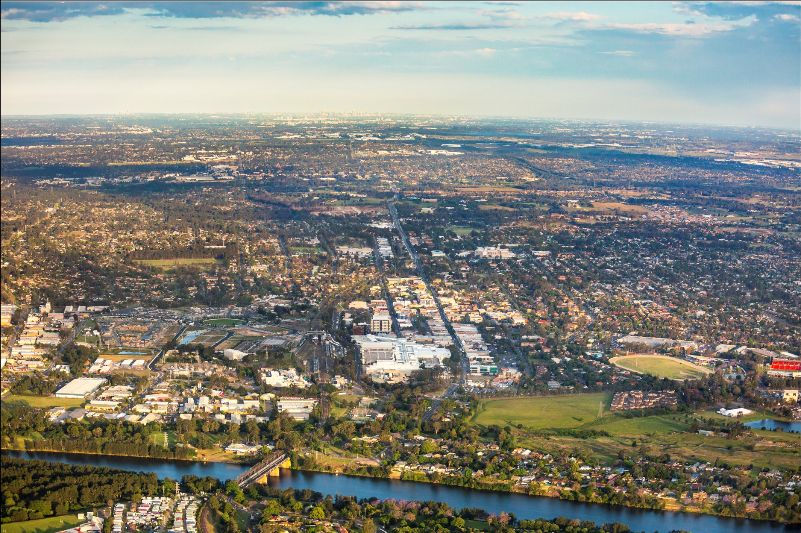 aerial view of penrith
