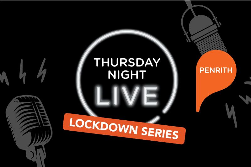 graphic with text thursday night live lockdown series